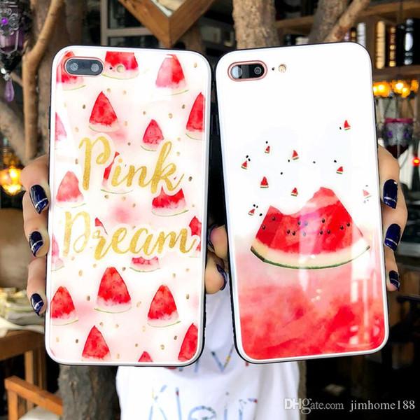 Custodia per telefono per iPhone X 8 7 6 6S Plus Cartoon Cherry Watermelon Lemon Pattern Cover posteriore in silicone TPU morbido per iPhone