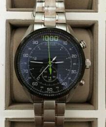 Relojes de acero inoxidable para hombres de lujo Hebillas Las mejores marcas suizas Classic 1000 White Faces Stopwatch Fashion Mens Quartz Chronograph Wristwatches