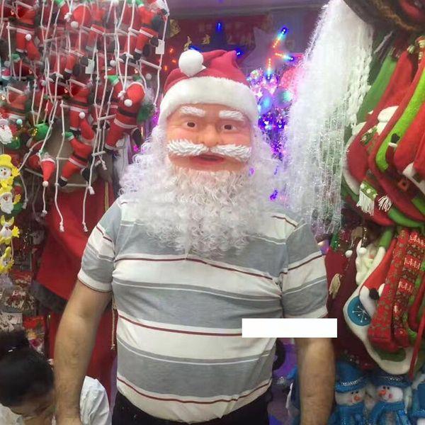 Рождество Санта-Клаус маскарад маска партии Проп Косплей Забавный костюм партии Туалетный анфас маски Xmas игрушки Kid Взрослый Санта
