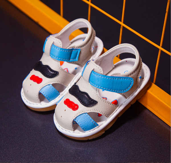 Children's Sandals Summer Girls 1-2 Years Old Babies'Shoes with Soft Bottom and Babies' Walking Shoes with Bull Tendons Bottom