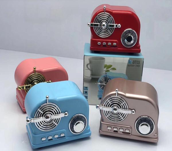 BT-03 HiFi Retro Wireless Bluetooth Speaker Radio BT03 Cute Mini Bass V4.2 TF Card Interface Bluetooth 10PCS/LOT