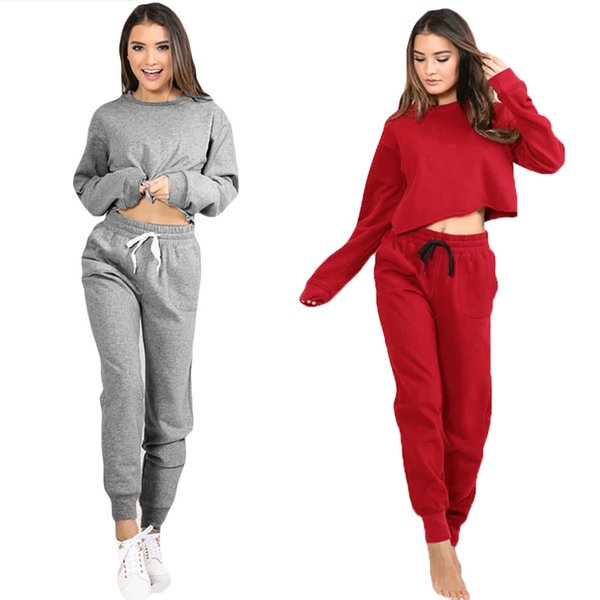 G9860GY-S Mulheres Esporte Yoga Top Colheita Blusa O-pescoço Longo Casual Sportswear Pullover Top T-Shirt 19ss