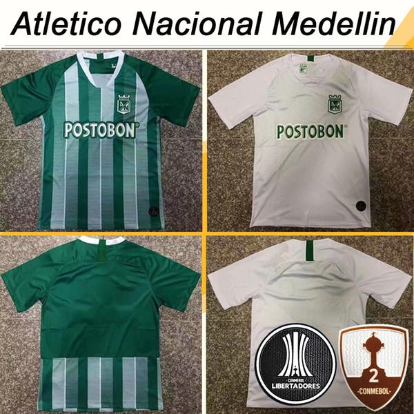 19 20 Atletico Nacional Medellin Mens Soccer Jerseys LUCUMI Home Green Away White Football Shirts Colombia Club Top Thailand Quality Uniform