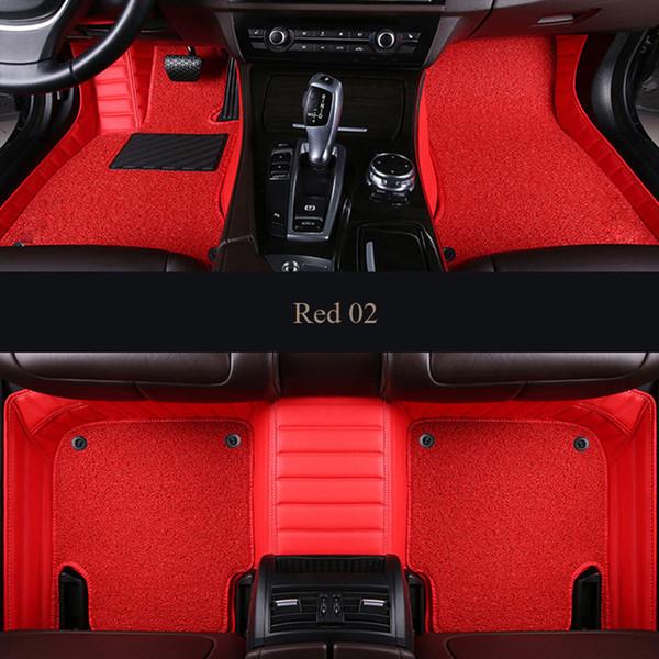 Tapis de sol pour voiture pour Toyota C-HR vers Corolla V4 Mark X Crown Couronne Avalon Highlander Camry prado 120 prius 30 doublure de style de voiture