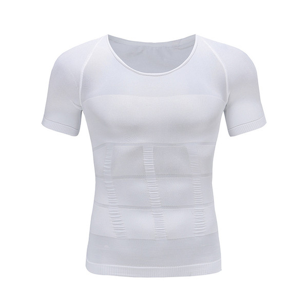 Men's Sports Tight T-Shirt Male Belly Abdomen For Corrector Compression Body building Fat Burn Chest Tummy Shirt Corset
