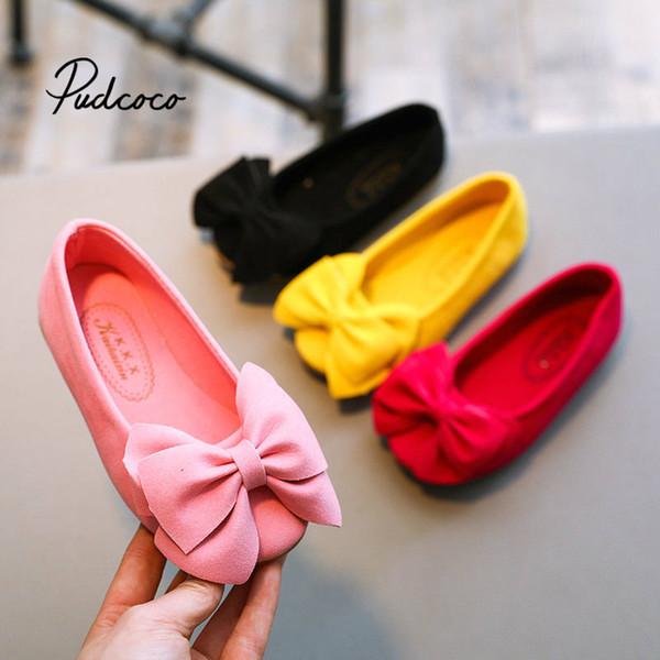 2019 İlkbahar ve Yaz yeni şeker renk Kızlar prenses ayakkabı Kız sandalet düz kaymaz ayakkabı dans yay