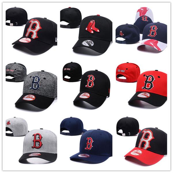 9 colores Casquette Boston Gorras Snapback para hombre Red Sox Gorras de béisbol Logotipo bordado Gorra deportiva de béisbol ajustable