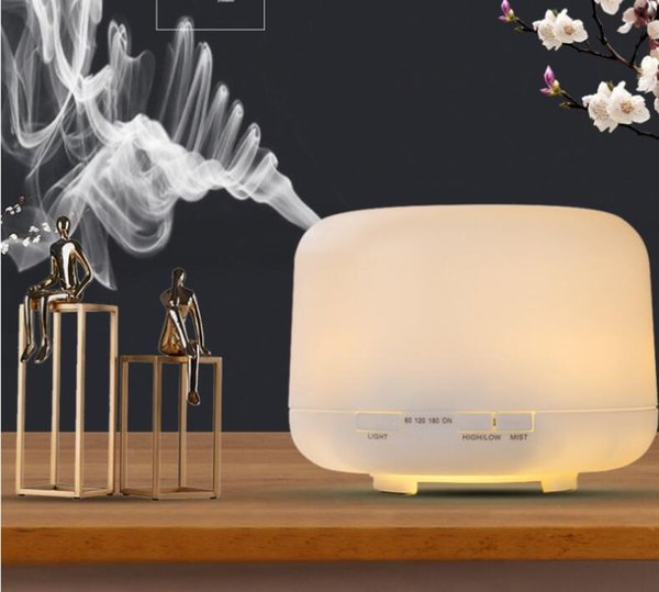 top popular 500ml Air Humidifier Aroma Essential Oil Diffuser Aromatherapy Umidificador 7 Color Change LED Night Light for Home 2021