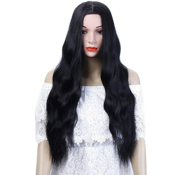 26'' Long Kinky Curly Hair For African Americans Heat Resistant Synthetic Synthetic Allaosify Long Wave hair For Black Women Natural Curly H