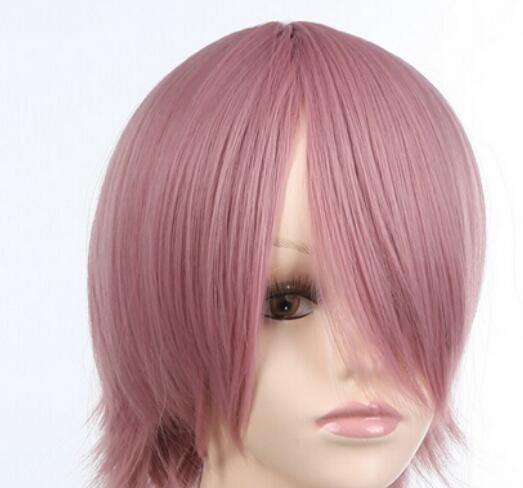 FREE SHIPPING + Style Women Synthetic pink Straight Hair Full Cosplay Short Wig