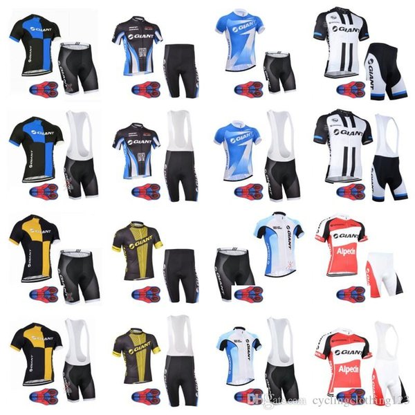 2019 GIANT team Cycling Short Sleeves jersey bib shorts sets 9D gel pad Racing Bicycle Maillot Ciclismo MTB Bike Clothes Sportswear A50405