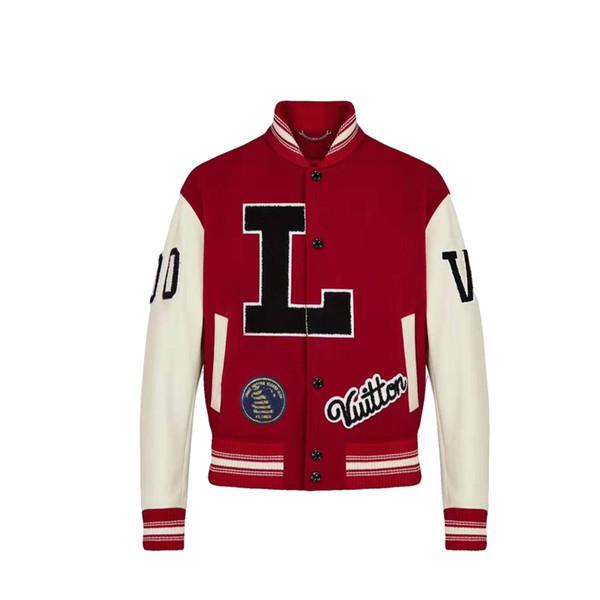 Men Baseball Jersey Bomber revestimento das mulheres Jacket Painel bordado Letter Jacket Wool Leather Sleeve Estudante adolescente Marca encabeça 2019 Nova Z
