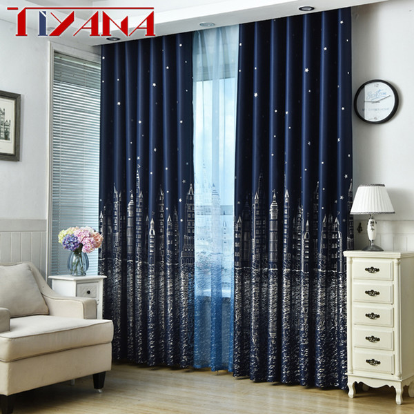 2019 Blue Star Castle High Shading Curtains For Child Room Cartoon Curtains  Tulle For Baby Boys Bedroom Blackout Wp230&20 From Diaolan, $38.63 | ...
