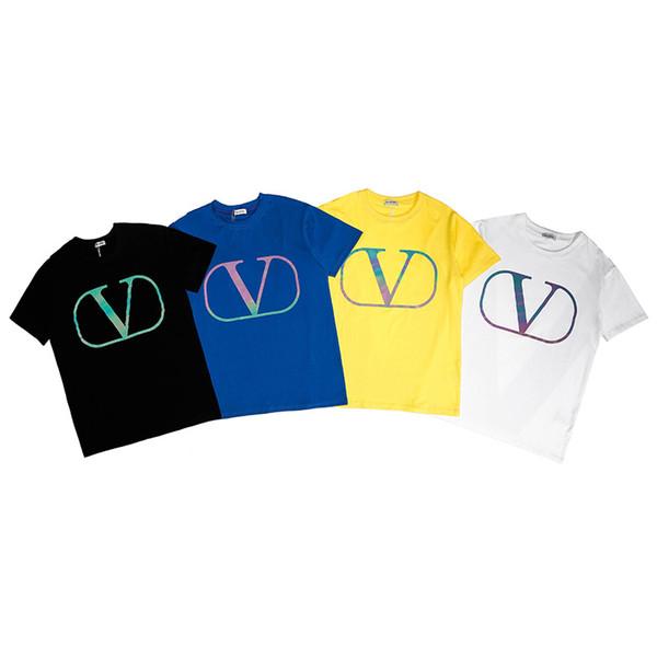 19ss nagelneue Mannfrauen drucken kurzärmlige T-Shirts T-Stücke beiläufige Art und Weiseluxust-shirts T-Shirts VLS1