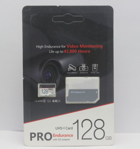 2019 New PRO Endurance 256GB 128GB 64GB 32GB Card TF Memory Card Class 10 Flash with free SD Adapter DHL Dispatch Frees