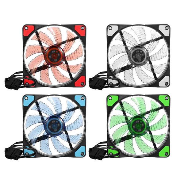 120x120x25mm, циркуляционный светодиодные бесшумный компьютер вентилятор охлаждения для ПК чехол кулер вентилятор радиатора 15 Сид 12V разъем 3pin 4-контактный IDE разъем легко устанавливается