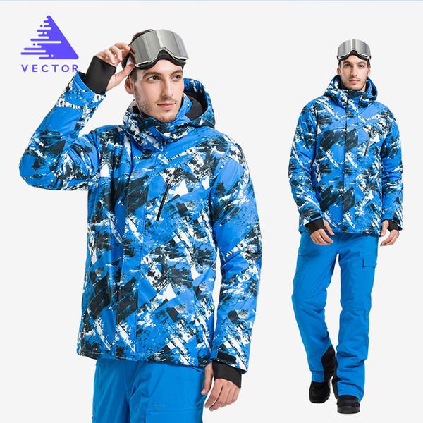 VECTOR Men's Ski Suit Outdoor Skiing Sports Ice Warm Thick Fashion Portable Snowwear Male Windbreaker Waterproof Clothing Cotton
