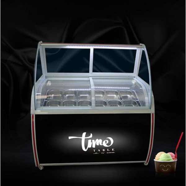 best selling CE approved display cabinet glass food Freezer manual popsicle showcase 8 round barrels or 10 square barrels ice cream display cabinet