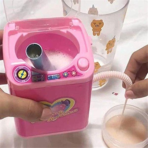 Mini Washing Puff All Gadgets Washing Machine Children Kids Automatic Socks Makeup Brush Tool Cleaner Washing Machine Toy Game Furniture