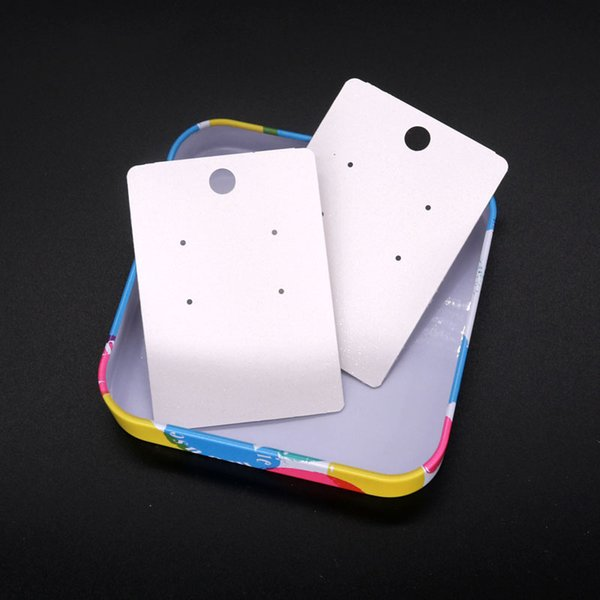 White Jewelry Packing Card 5*7Inches Ear Studs Decoration Display Label Large Stock Card Tag Can Custom