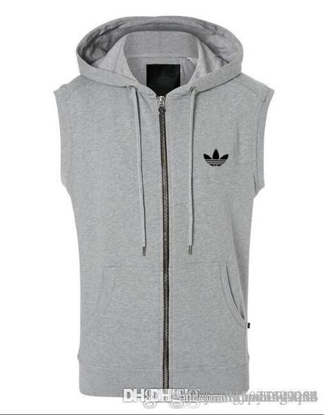 Men's spring and autumn casual waistcoat sports men's wear hooded cardigan vest vest jacket vest clip