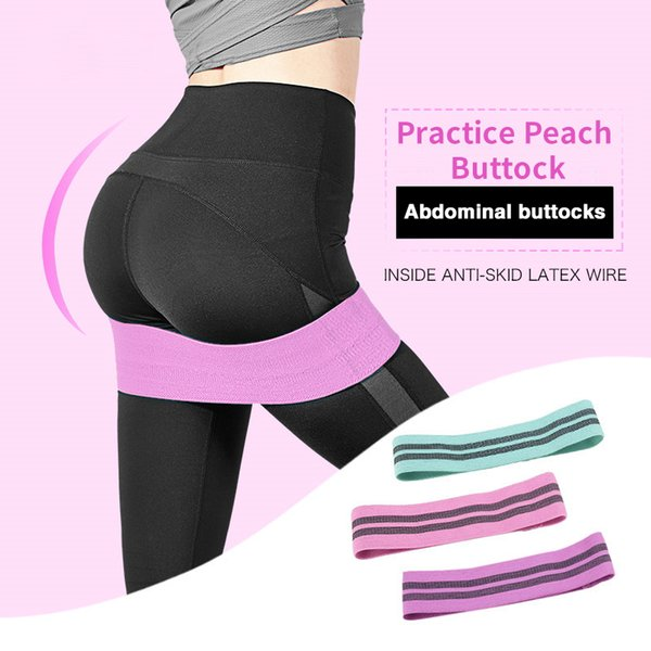 Hip Resistance Bands Booty Elastic Bands Exercise for Thigh Glutes Bridge Fitness Workout Resistance Fitness Gum