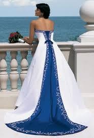 Bianco con Royal Blue