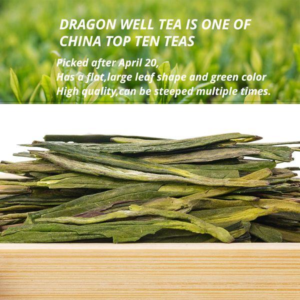 Thé vert chinois Long Jing Yuhou Xihu Longjing Chine West Lake Dragon Well thé Longjing Longjing Loose Leaf Green Care Health Food
