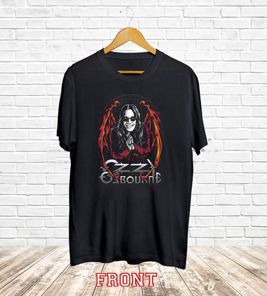 "New OZZY OSBOURNE ""SKULL RING"" Men's Black T shirt Tee XS-3XL Harajuku Summer 2018 Tshirt Short Sleeve Plus Size T-shirt"