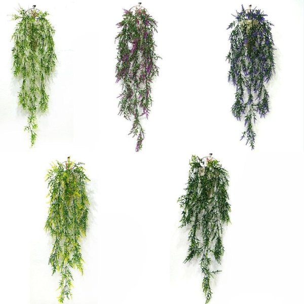 Hanging Artificial Wheat Grass Fake Green Ivy Artificial Plants Vine Home Wall Garden Wedding Party Decor