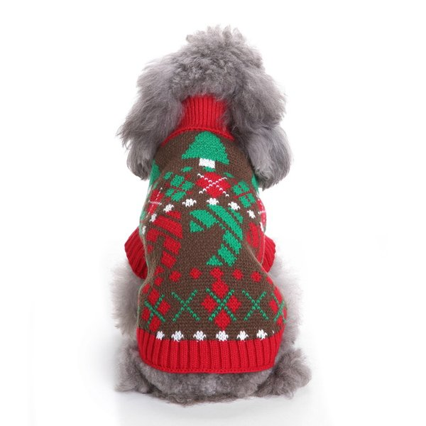 Pet Dog Sweater Christmas Costume Cute Cartoon Clothes For Small Dog Cloth Costume Dress Xmas apparel for Kitty Dogs
