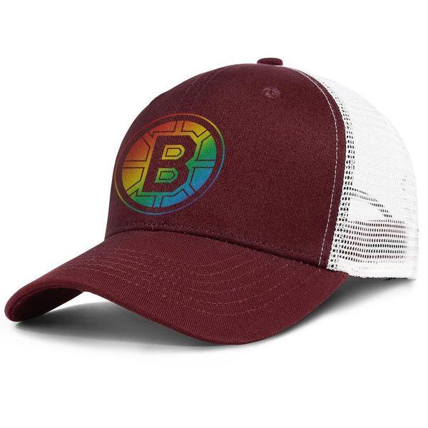 Mode Mesh Visier Kappe Männer Frauen-Boston Bruins TEAM LOGO RAINBOW Designer Hut Snapback Einstellbare Golf Hut Outdoor