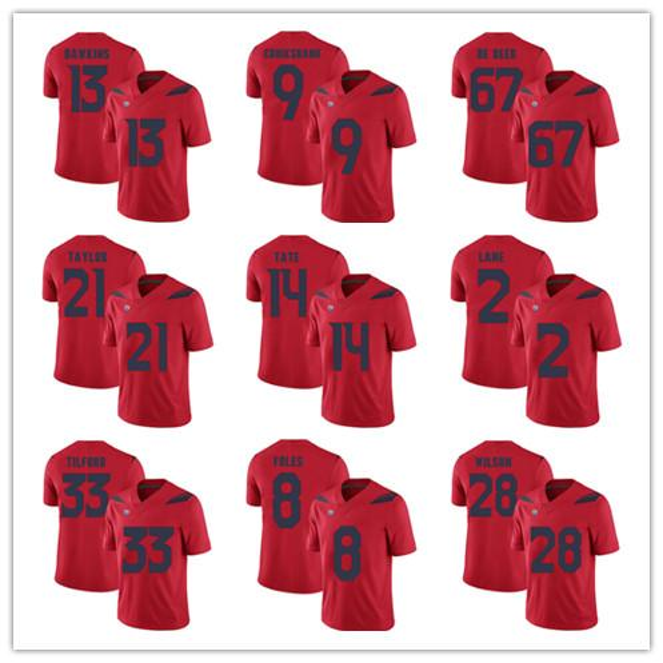 save off ccaac 83c92 2019 Mens Arizona Wildcats 13 Brandon Dawkins 14 Khalil Tate 8 Nick Foles  28 Nick Wilson Player College Football Stitched Jersey From Hellomicki, ...