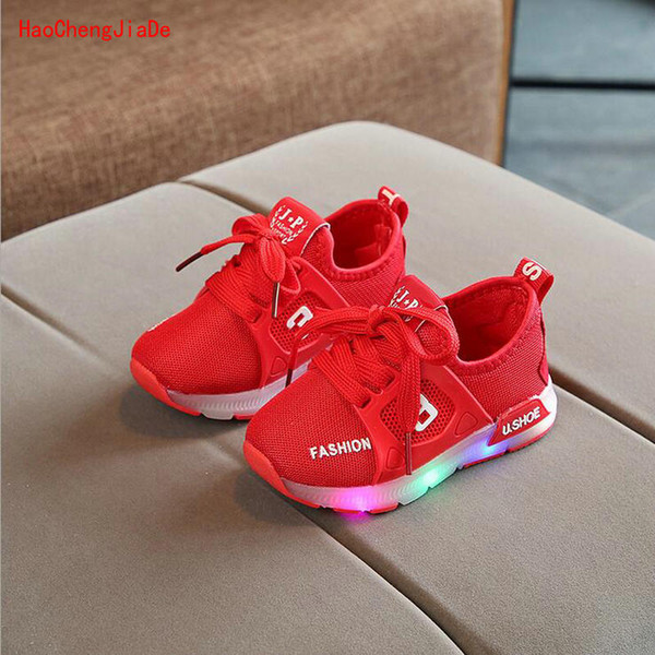 New Autumn Children Shoes LED Glowing Sneakers Kids Fashion Air Mesh Baby Sports Shoes For Toddler Shoes With Light Boys Girls