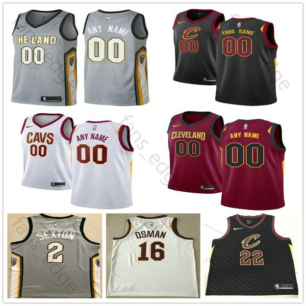 f816aed78c7 Screen Printed Cleveland 0 Kevin 2 Collin Love Sexton 3 George 16 Cedi Hill  Osman 13 Tristan 5 JR Thompson Smith Cavaliers Basketball Jersey