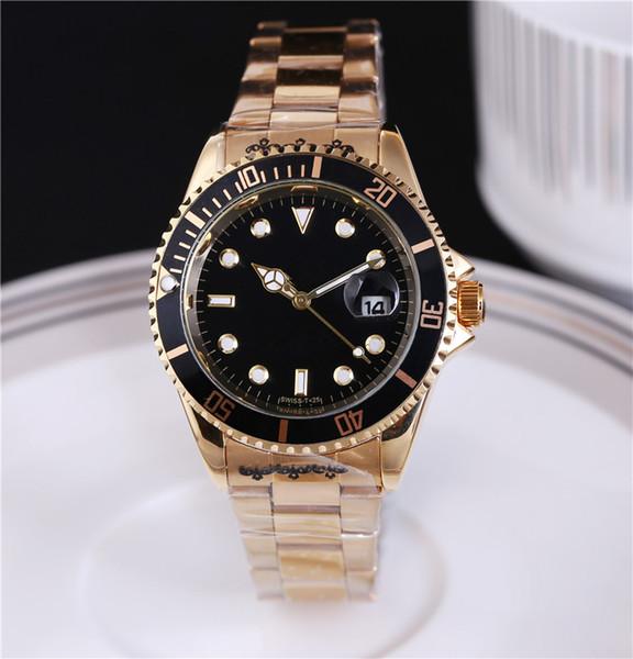 2018 Mens relógio de luxo mestre de qualidade superior completa de aço inoxidável automático l Gent relógio de pulso de prata de ouro preto 40 milímetros relógio masculino.