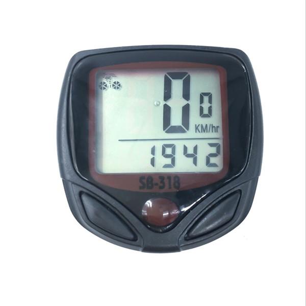 Waterproof Mountain Bike MTB code table Bicycle Computer Bike LCD Display Digital Computer Speedometer Odometer 15 Functions #78496