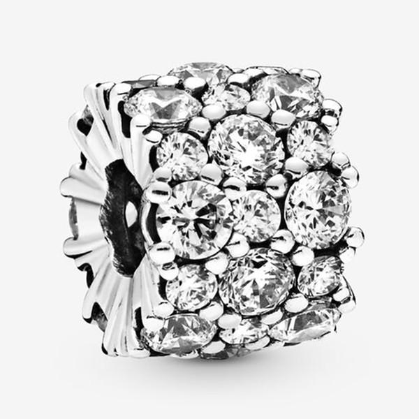 Convient charme européen Pandora Effacer Étincelle Perle avec Cz Bijoux Bracelets Bracelet authentique Colliers Pendentifs Argent 925