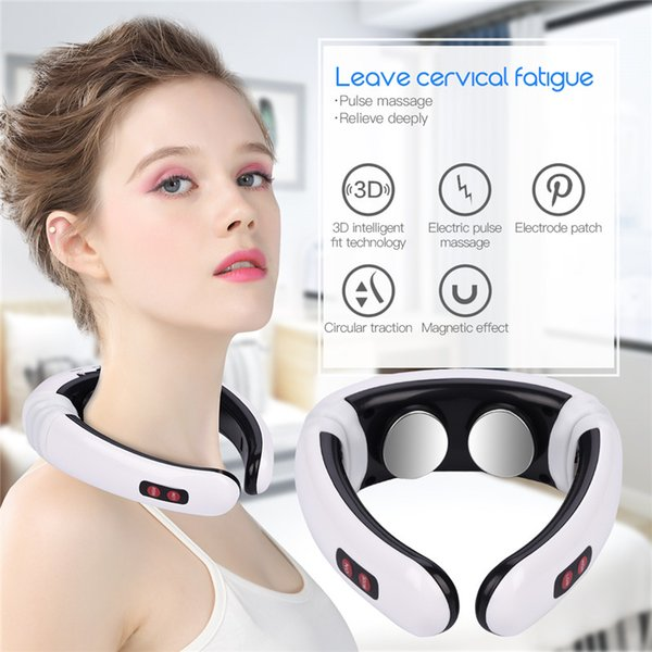 Electric Pulse Neck Massager Cervical Vertebra Impulse Massage Physiotherapeutic Household Acupuncture Magnetic Therapy Relief Pain Tool