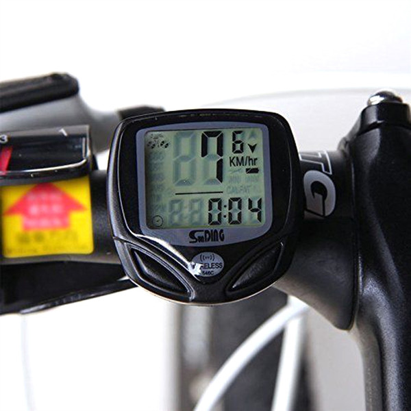 SUNDING Bike Speed Meter Digital Computer Multi function Waterproof Sports Sensors Bicycle Computer Speedometer with LED light #283639