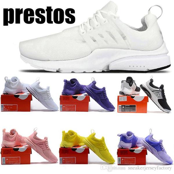 Großhandel Günstige NIK Rosa Gelb Prestos 5 BR QS Run Schuhe Damen Sportschuh Triple S Weiß Schwarz Bunte Outdoor Designer Turnschuhe Von