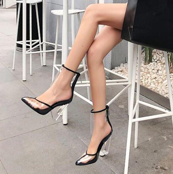 Ebullient2019 Eseguire Performance Lontano eccellente scarpe Sharp in PVC trasparente cristallo Cono alto con maniche Roma caricamenti del sistema freddi 40-43