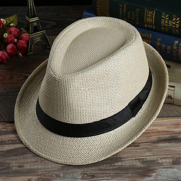 Пара трава Кос соломенные шляпы лето солнцезащитный крем шапки для мужчин женщин мода пляж широкими полями шляпы