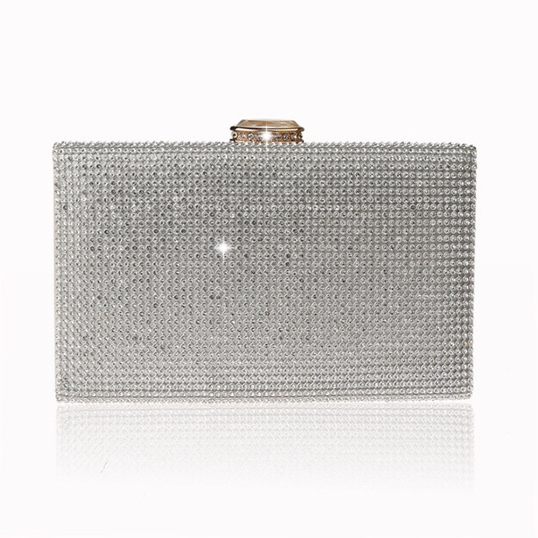 Female Clutch 2019 Luxury Handbags Diamond Evening Bag Bling Banquet Party Wedding Purses Clutch Wallet Gold Silver WY196 #590577