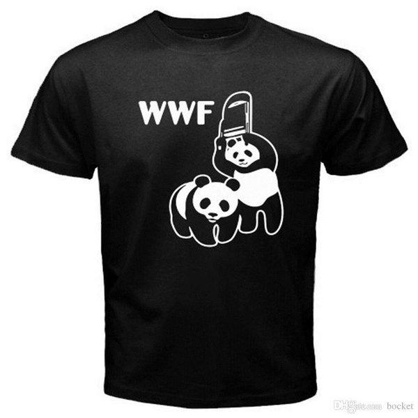 Nouveau T-shirt noir pour hommes de la WWF Organization Panda Logo drôle Logo Parody Taille S à 3XL