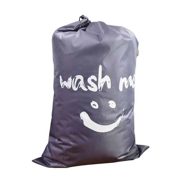 best selling 210d POLYESTER fabric Drawstring Storage Bag Laundry Bag Foldable Home Organizer Travel Organizer