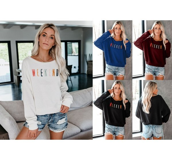 Women Fashion Solid Color Hoodies Explosion Fashion Autumn Long-sleeved Shirt Designer Letters Printed Women Loose Sweater