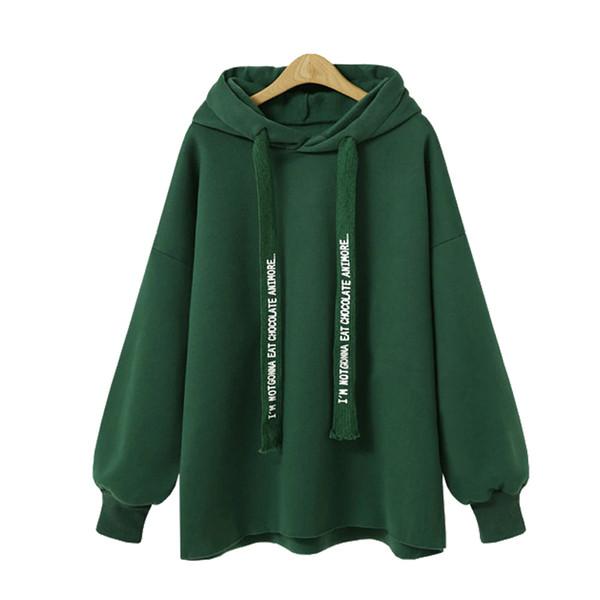 2019FLULU Herbst Winter Frauen Sweatshirt 2018 Beiläufige Feste Warme Lose Hoodies Sweatshirt Langarm BF Harajuku Bts Plus Größe 5XL Großhandel