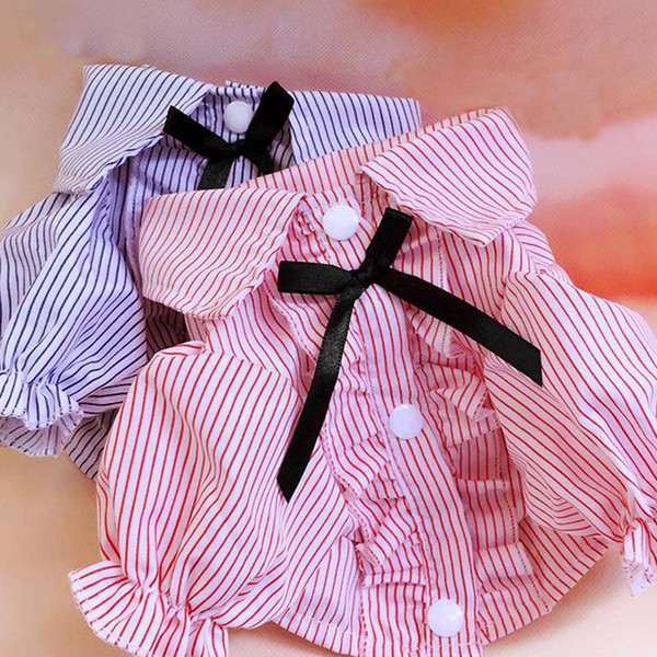 Dog T-shirt Summer Pet Dog Clothes Cute Dogs Vest Bow Tie Pet Shirt Pet Apparel Clothes for Dogs Chihuahua