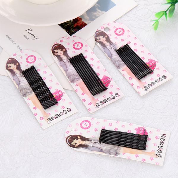 Fornecimento de grampos Pretos Coreano grampos de cabelo Nupcial Fio em caixa de cabelo grampos de cabelo Pequenos presentes